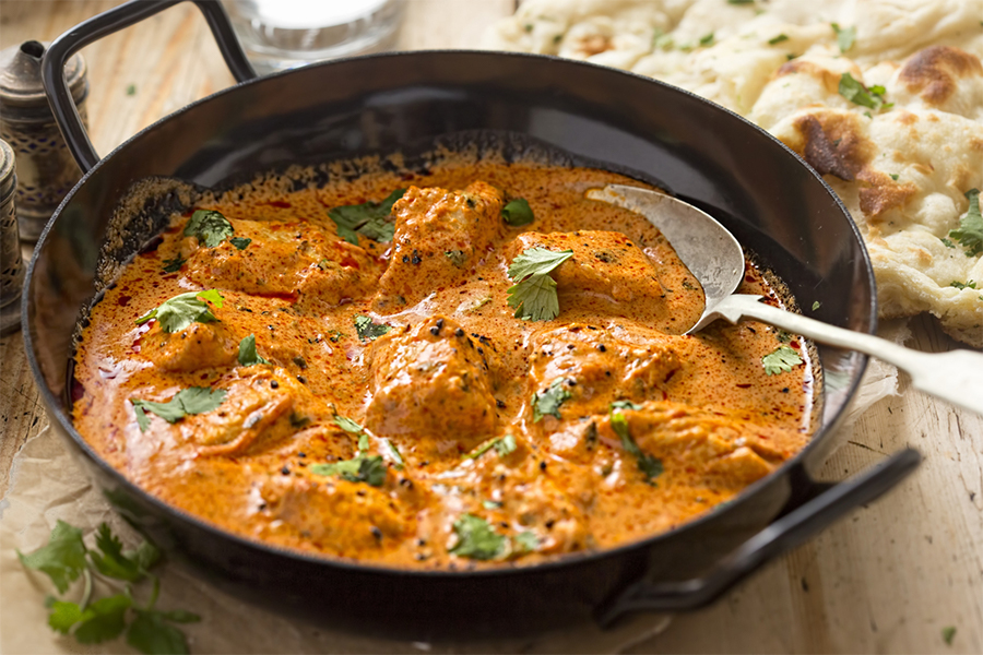 Skillet of Garam Masala chicken curry