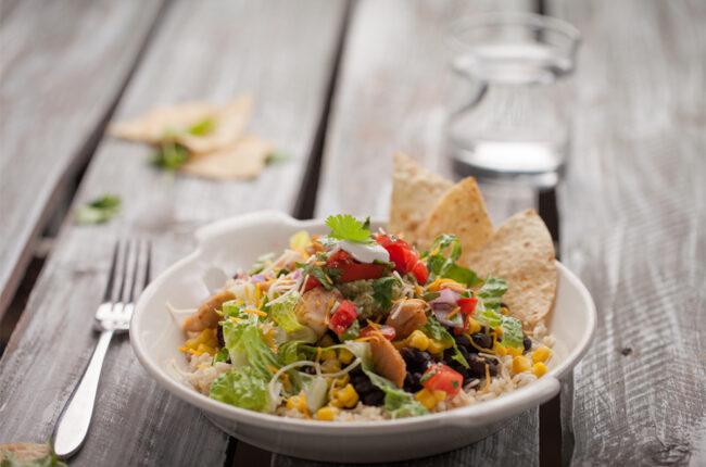 Tortilla Crunch Salad with Chicken