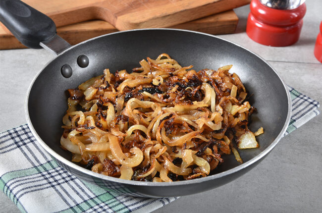 Skillet with Caramelized Onions