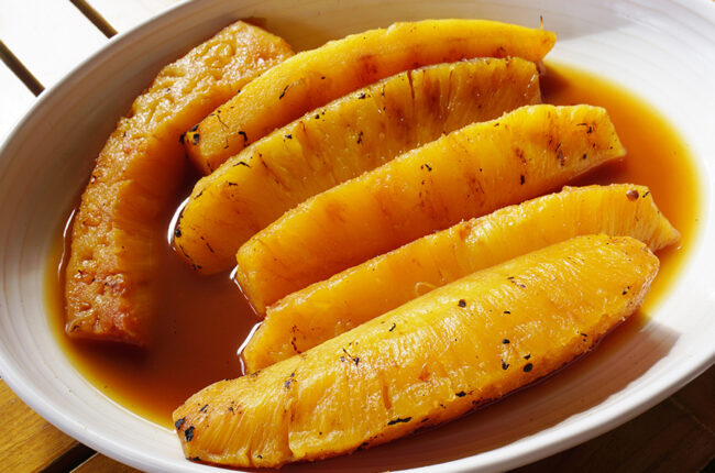 Caramelized Pineapple Slices