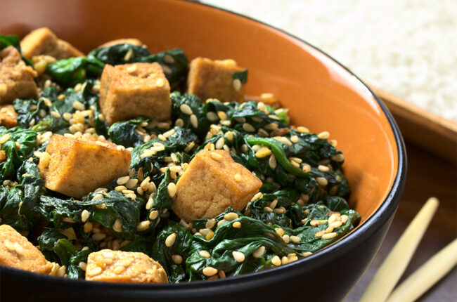 Sesame Spinach with Tofu