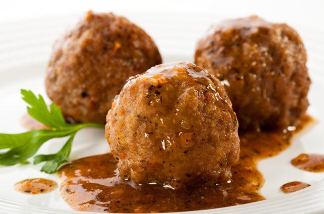 3 Turkey-Veggie Meatballs
